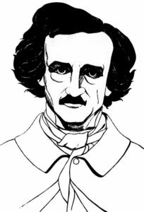 Un dibujo sobre Edgar Allan Poe